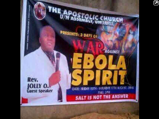War against ebola spirit