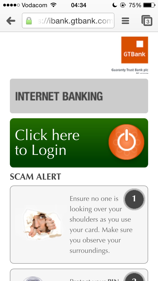 internet banking application for gtbank