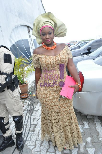 Nigerian Female Celebrities Wearing Native Outfits