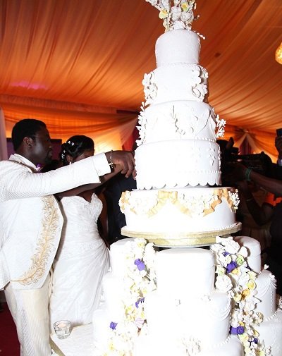 10 Most Beautiful Cakes Of Nigeria Celebrity Wedding