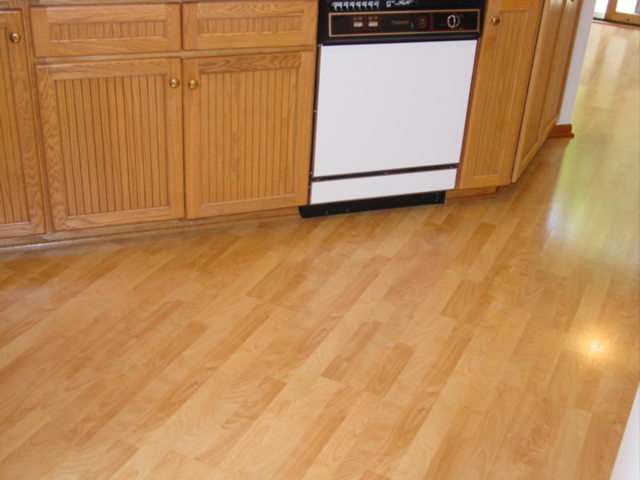 1 share - Laminate Flooring In A Kitchen