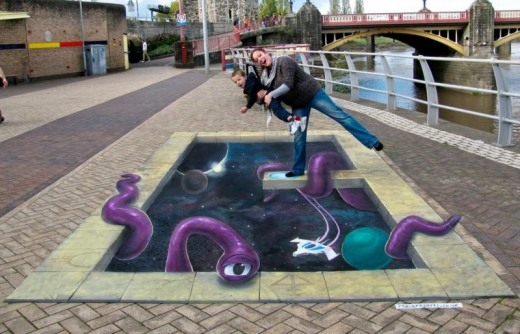 15 Awesome Floor Painting Illusion That Ll Shock You Art