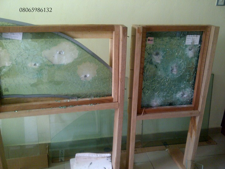 Bullet Proof Glass Windows And Sliding Door For Security