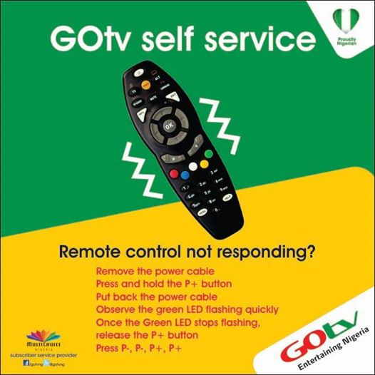 What To Do When Your Gotv Remote Control Is Not Responding - TV