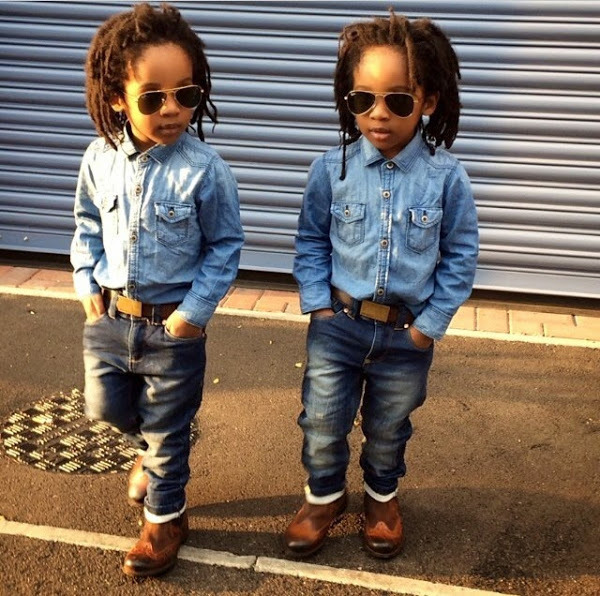 Image result for Charly Boy's grandkids twins
