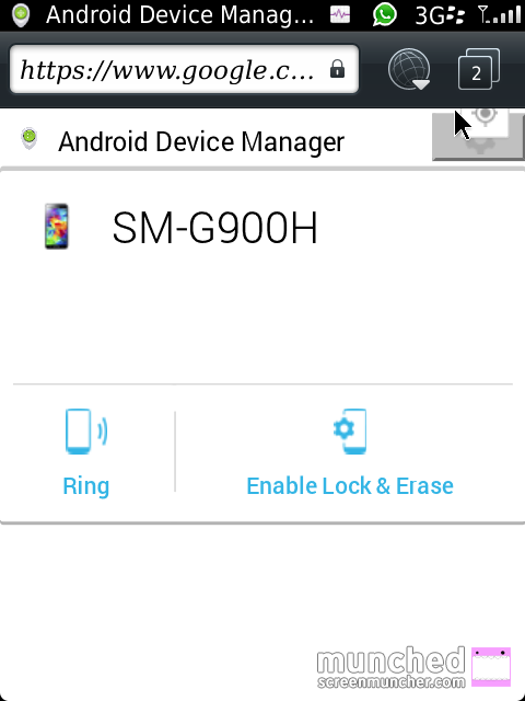 Ring Requested Android Device Manager