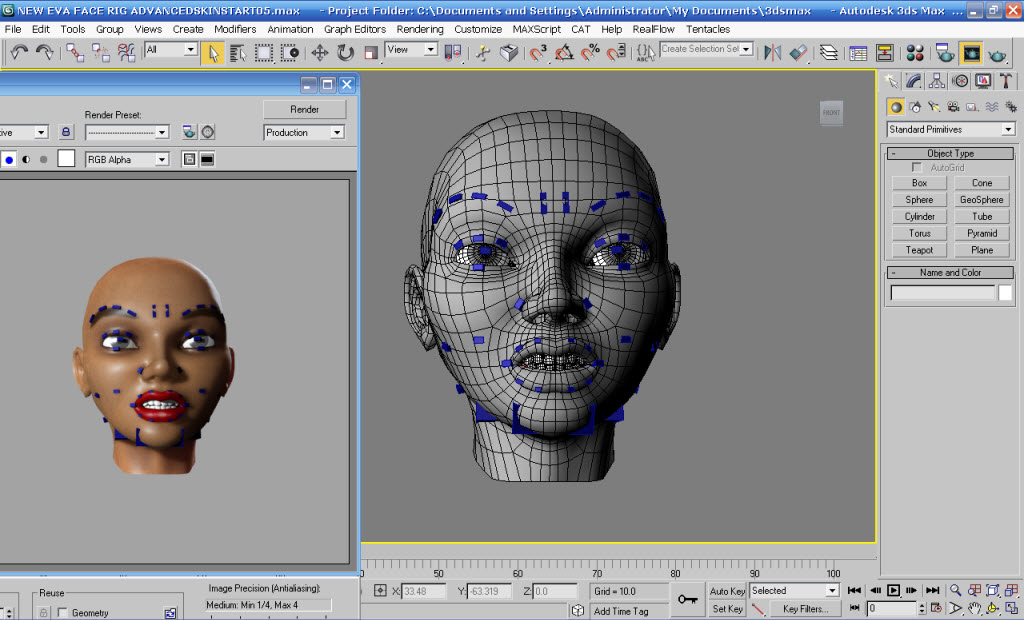 3ds Max Face Rig - Art, Graphics