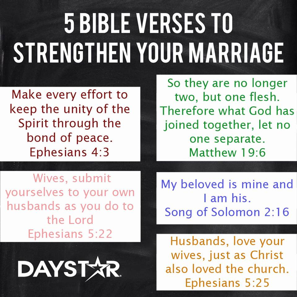 five bible verses to strenthen your marriage religion nigeria