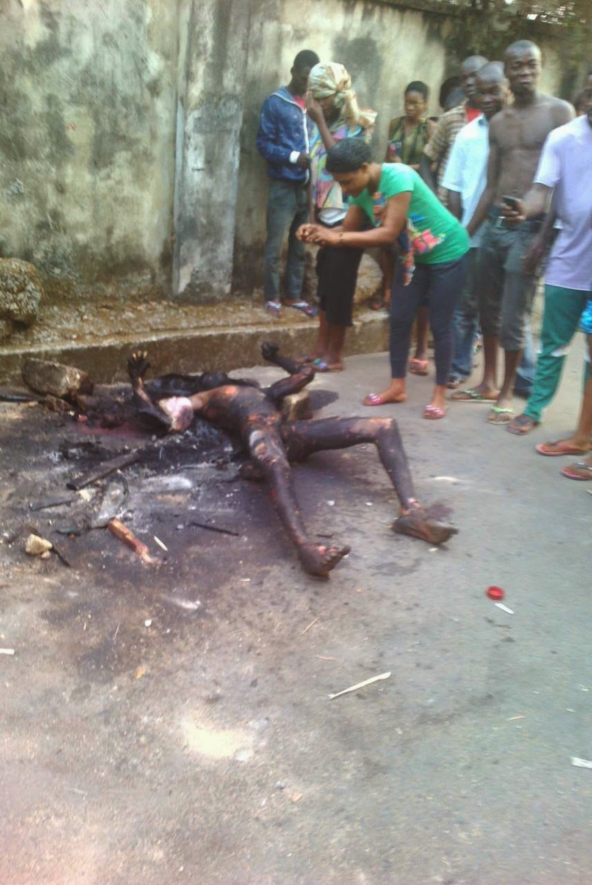 Calabar Boy Caught And Burnt To Death For Stealing