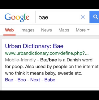 Does bae mean dating websites