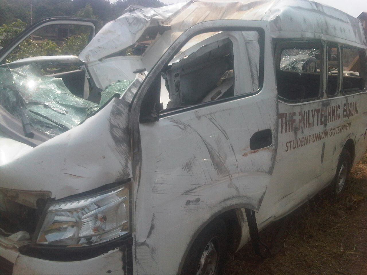 PHOTOS: Polytechnic Ibadan Students' Union Involve In A Deadly Accident