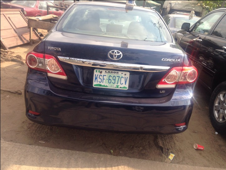 2012 toyota corolla registered for sale oh autos nigeria. Black Bedroom Furniture Sets. Home Design Ideas