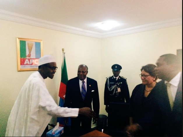 Gen. Buhari Welcomes Commonwealth Election Monitoring Team In His Abuja Office [photos]