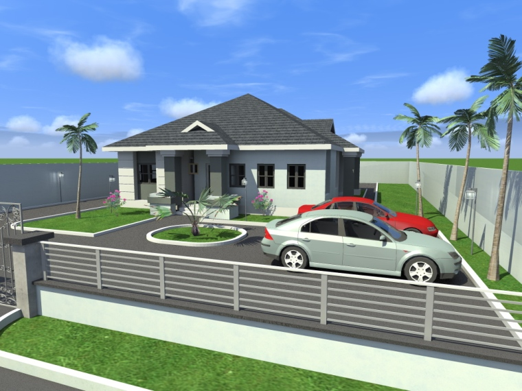 Modern home design architectural designs of bungalows in for House plans nigeria