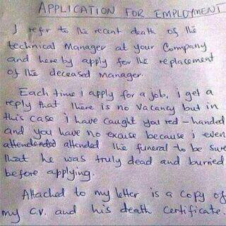 Letter Of Application For Employment Must Read