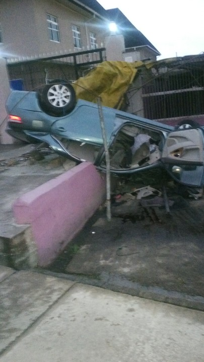 Accident Happened Along Festac Link Road Close To Apple Junction Amuwo  Odofin Festac At About 4.00 Am Early Morning Today.
