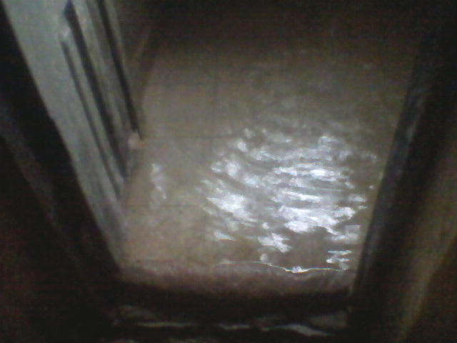 yr yet the backyard is flood with water from the sewage systems and the baths are also flood with water  some girls take their bath out side at night. Flooded Bathroom Of Trinity Hostel Of IMSU Where They Pay 140k yr