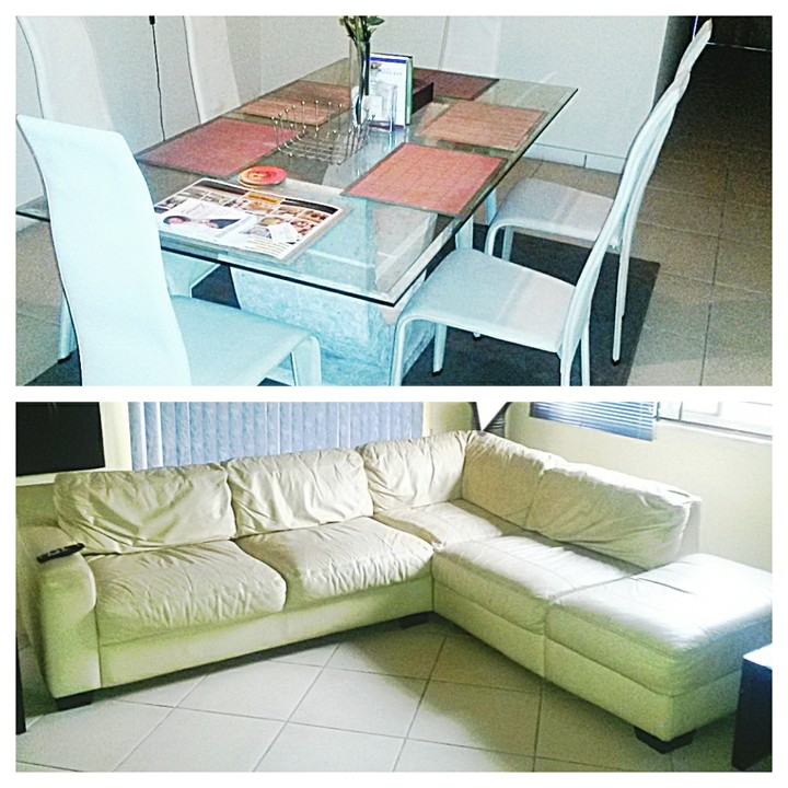 Leather Sofas In Nigeria: Best Deal: Italian L-shape Leather Sofa+leather Dinning