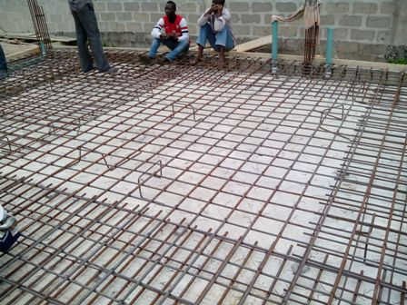 Construction of 2 storey building at osapa lekki ajah for House slab design
