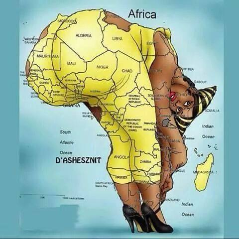 just for laugh nigeria s position on the africa map says it all