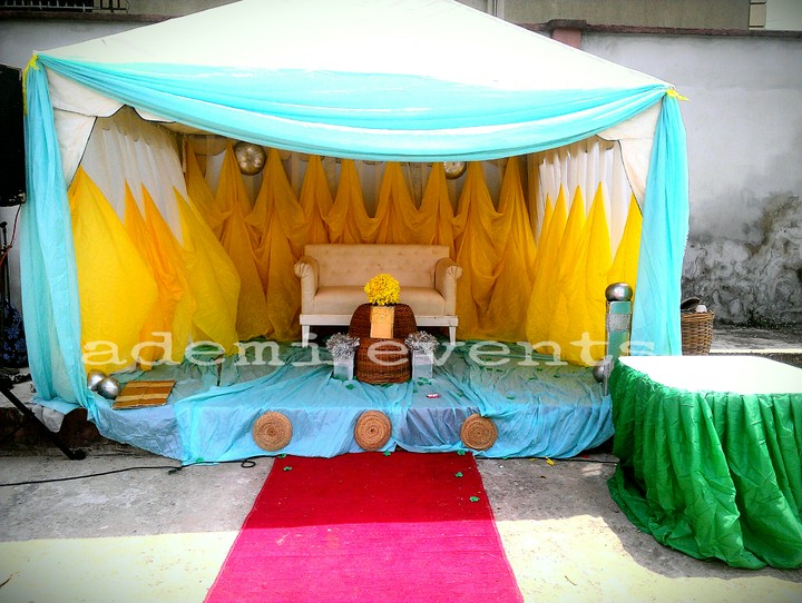 Ademi wedding decoration for 70k ember promo events 3 nigeria ademi events junglespirit Image collections
