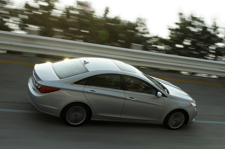 ... by the Sonata, quickly. Its 4cylinder 2.0 turbo is puts out an amazing  274 horsepower, which takes it to 60mph in 6.0 seconds.