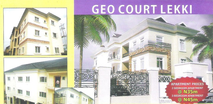 Buy a 2 3bedroom apartment at geo court lekki lagos for Efficacy apartments