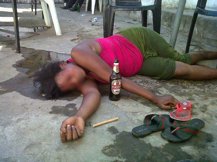see how this young girl disgraced herself after drinking too much
