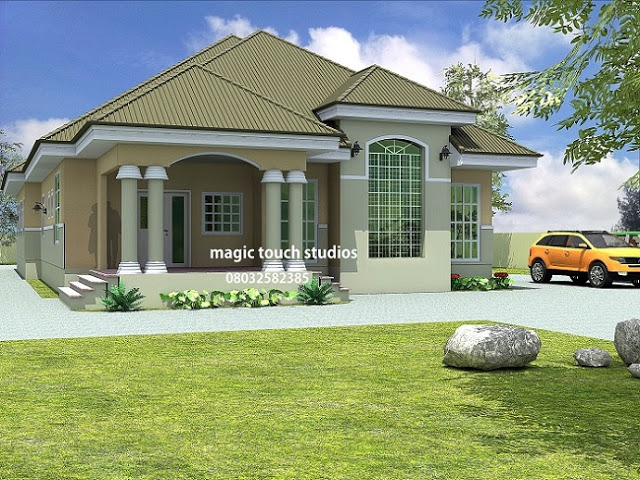 Home plans for bungalows in nigeria properties 5 for 5 bedroom house ideas