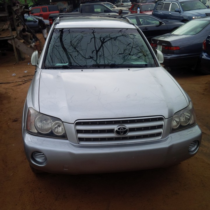 New Toyota Highlander For Sale: Very Neat Tokunbo 2003 Toyota Highlander For Sale Contact