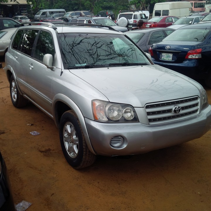 2002 Toyota Highlander For Sale: Very Neat Tokunbo 2003 Toyota Highlander For Sale Contact
