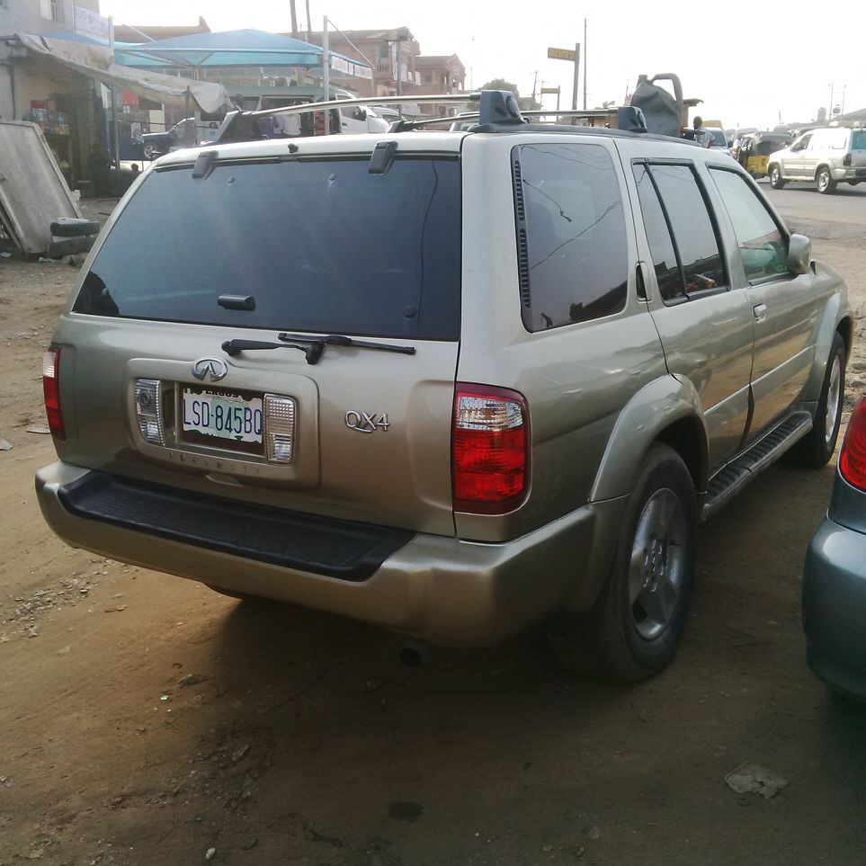 Registered infiniti qx4 2002 n80000000 autos nigeria audio cdamfm steering power all air bags intact interior leather formica gear transmission automatic mirrors automatic windows automatic vanachro Image collections