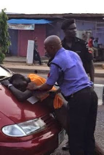 Police Beat Up An Okadaman And Strip Him Unclad In Agege