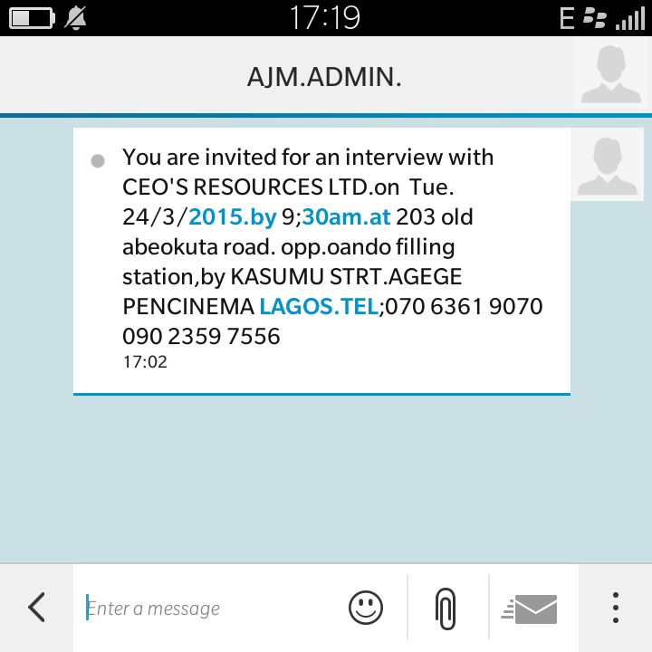 How genuine is this interview invite jobsvacancies nigeria how genuine is this interview invite jobsvacancies nairaland stopboris