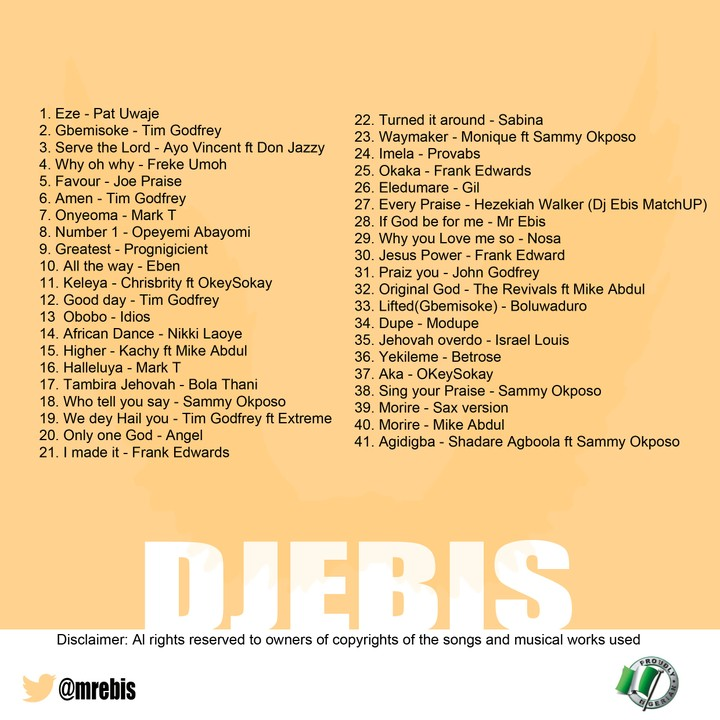 Latest Nigerian Gospel Party Mix - DJ Ebis - Music/Radio