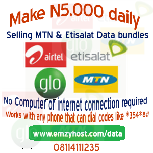 Make N5,000 daily selling internet Data bundles with any phone