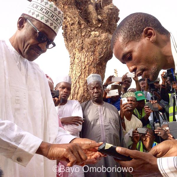 General Buhari And His Wife Being Accredited (photos
