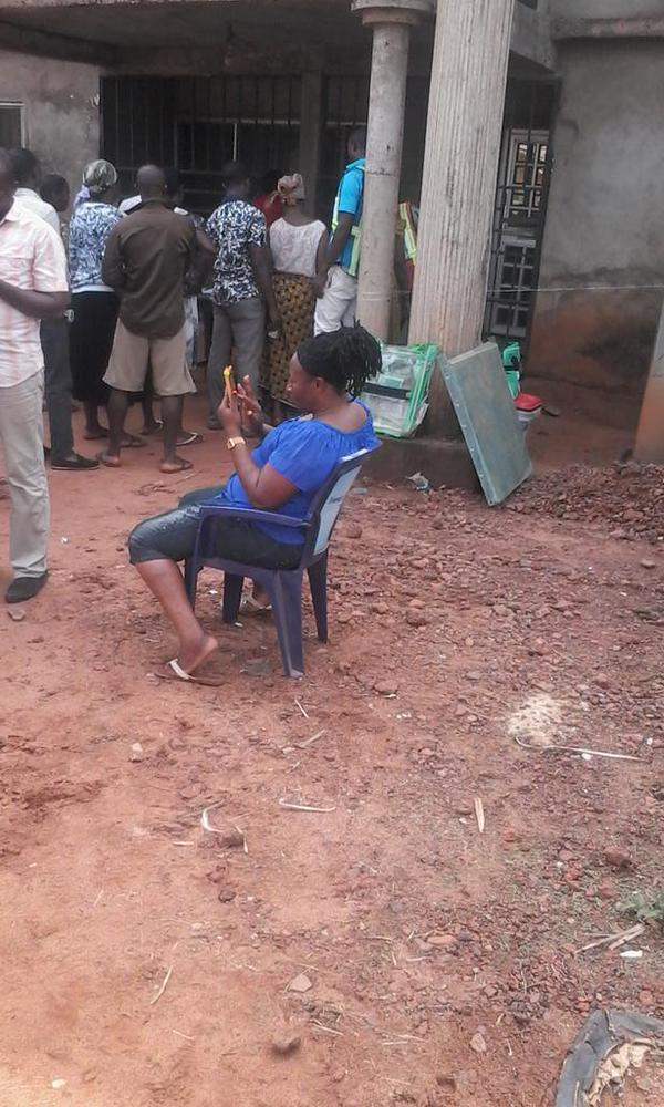 Spotted: Patience Ozokwor & Mercy Aigbe Waiting To Vote After Accreditation