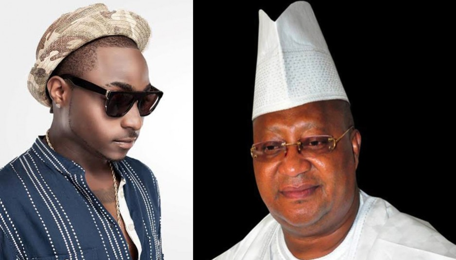 Image result for davido and isiaka adeleke