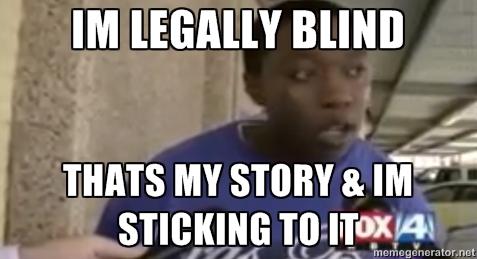 how to tell if you are legally blind