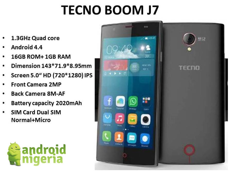 Leaked Specs Of Tecno's Upcoming Device , Boom J7 - Phones - Nigeria