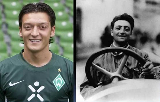 Footballer Mesut Ozil And His Look Alike Enzo Ferrari Sports Nigeria
