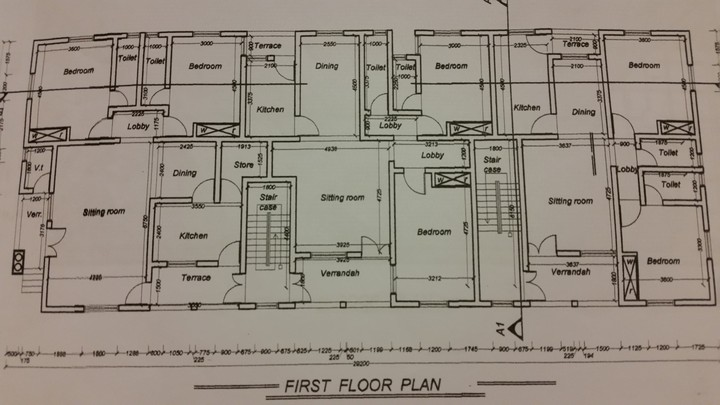 Plan of my 6 flat 2 bedroom each what do u think for Most affordable way to build a house
