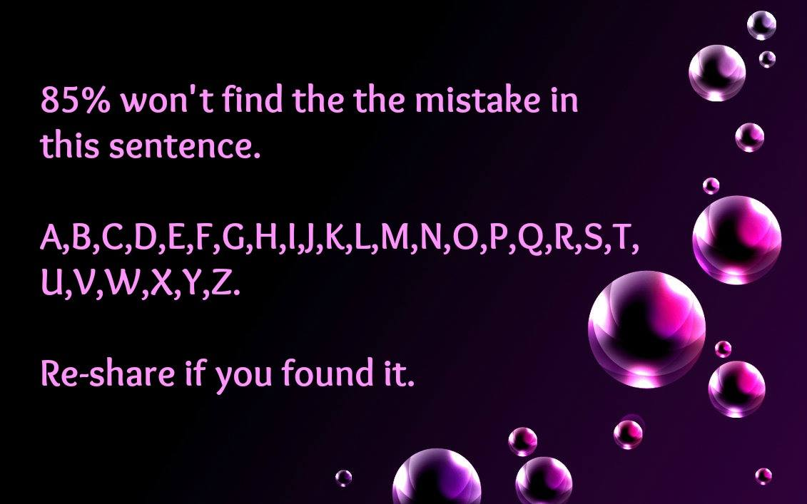 What is a mistake? 29