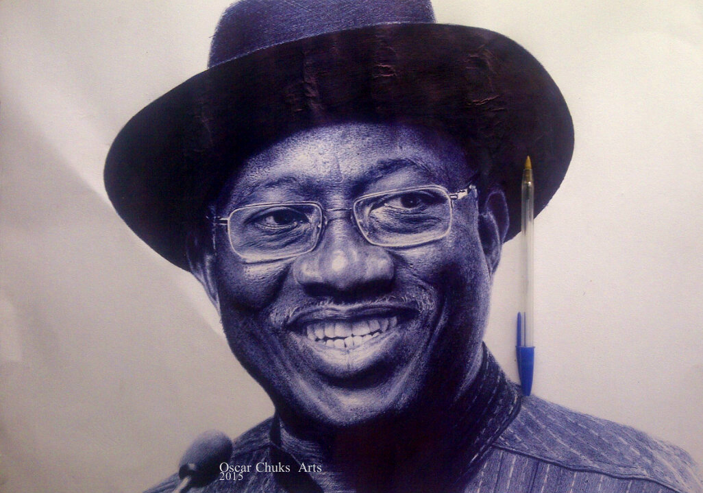 An amazing hyper realistic biro drawing of president goodluck jonathanphotos art graphics video nairaland