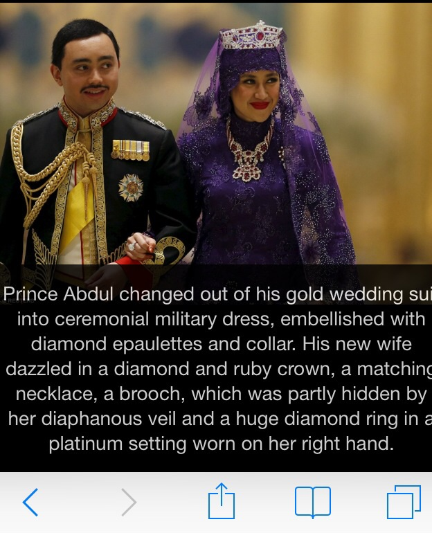 Worlds Most Expensive Wedding Sultan Of Brunei Son In Mind