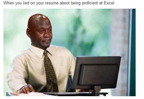 When You Lie On Your Resume About Being Proficient In Excel - Jobs ...