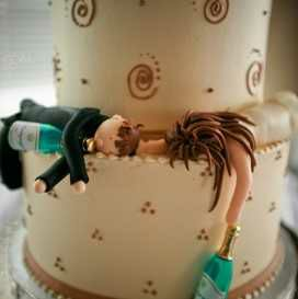 This couple met in a club, check out their wedding cake,,,:-)