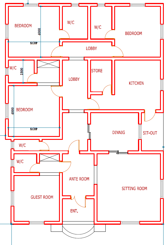 Plan Of Four Bedroom Flat Home Design Ideas