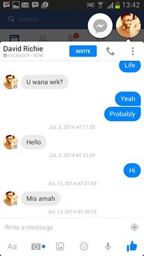 chat with girl on fb